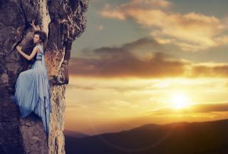 Fancy Mountain Climbing - Obrázkek zdarma pro LG P970 Optimus