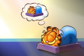 Garfield Sleep Wallpaper for Android, iPhone and iPad