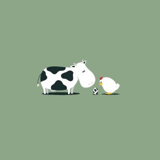 Funny Cow Egg - Obrázkek zdarma pro 128x128