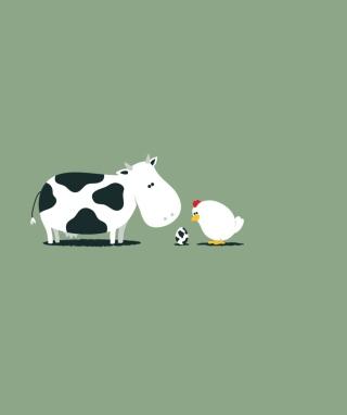 Funny Cow Egg - Obrázkek zdarma pro Nokia Asha 310