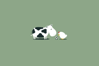 Free Funny Cow Egg Picture for Android, iPhone and iPad