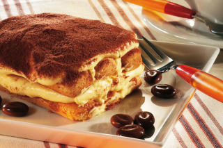 Tiramisu Italian Dessert Background for Android, iPhone and iPad