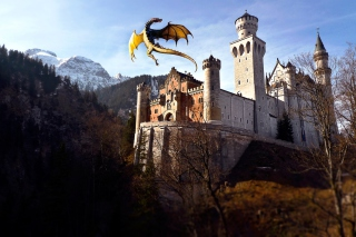 Dragon Flying Background for Android, iPhone and iPad