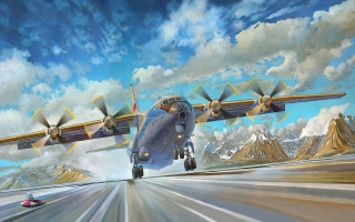 An-12BK Soviet Aircraft Wallpaper for Android, iPhone and iPad
