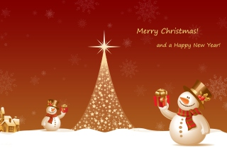 Free Snowman New Year 2013 Picture for Android, iPhone and iPad