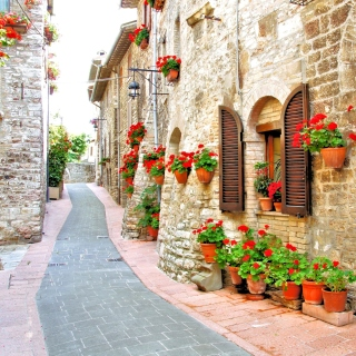Italian Streets on Garda - Obrázkek zdarma pro 128x128