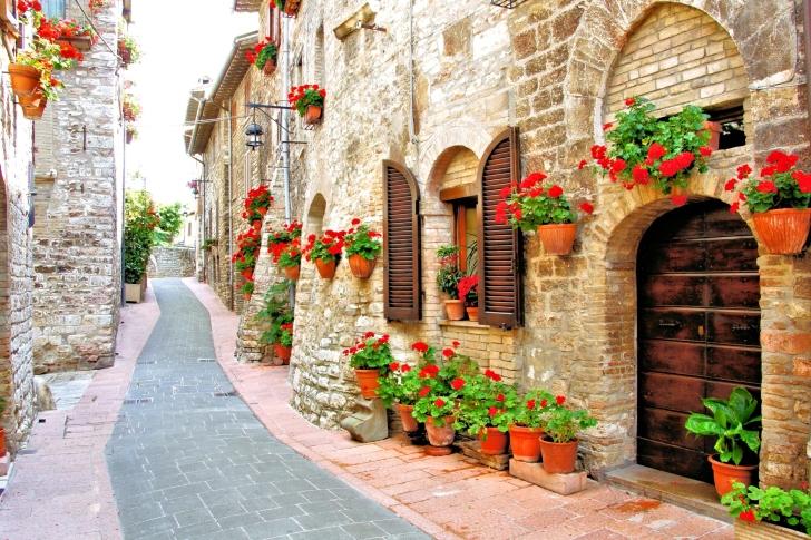 Italian Streets on Garda wallpaper