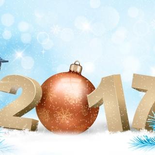 2017 New Year - Obrázkek zdarma pro 208x208