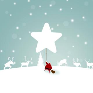 Santa Claus with Reindeer - Obrázkek zdarma pro 320x320