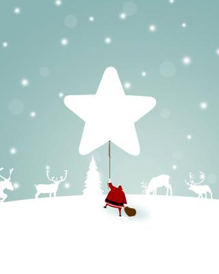 Santa Claus with Reindeer - Obrázkek zdarma pro Nokia Asha 303