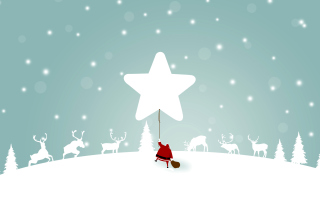 Free Santa Claus with Reindeer Picture for Nokia Asha 200