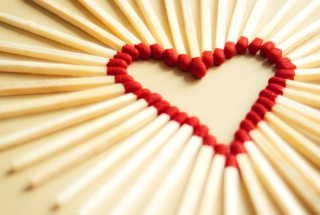 Free Love Matchsticks Picture for Android, iPhone and iPad