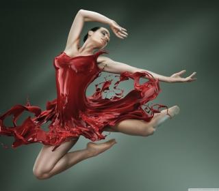 Ballerina Jump - Obrázkek zdarma pro 1024x1024