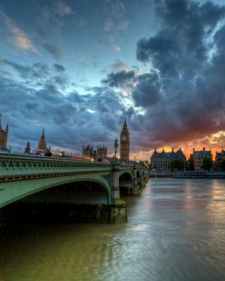 Westminster bridge on Thames River - Obrázkek zdarma pro Nokia Asha 503