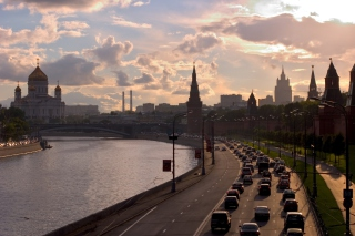 Moscow Cityscape Wallpaper for Android, iPhone and iPad