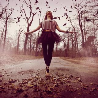 Autumn Ballet Dance - Obrázkek zdarma pro iPad