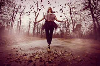 Autumn Ballet Dance - Obrázkek zdarma pro 1152x864