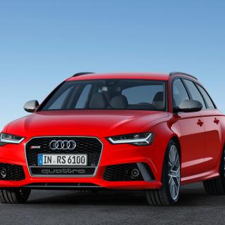 2016 Audi RS6 Avant Red - Obrázkek zdarma pro 1024x1024