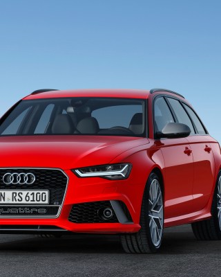 2016 Audi RS6 Avant Red Background for Nokia Asha 303