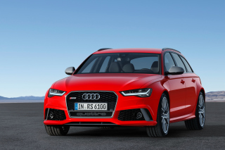 Free 2016 Audi RS6 Avant Red Picture for Android, iPhone and iPad