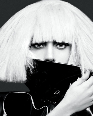 Lady Gaga Black And White - Obrázkek zdarma pro Nokia Lumia 620