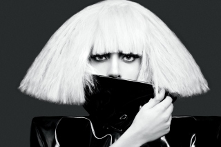 Lady Gaga Black And White - Obrázkek zdarma pro Widescreen Desktop PC 1920x1080 Full HD