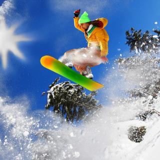 Extreme snow slope - Obrázkek zdarma pro iPad 2