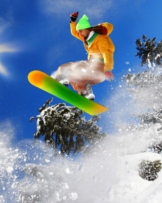 Extreme snow slope - Obrázkek zdarma pro 480x800