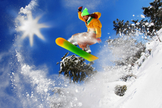 Free Extreme snow slope Picture for Android, iPhone and iPad