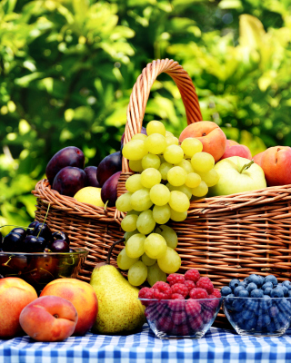 Organic Fruit Gift Basket - Obrázkek zdarma pro 240x320