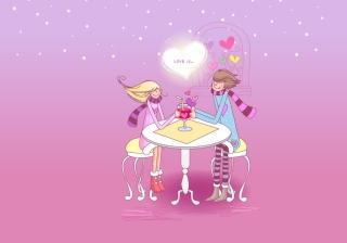 Картинка Love Is для телефона