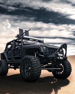 Jeep Wrangler for Army - Obrázkek zdarma pro Nokia 206 Asha
