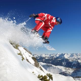 Snowboard in Whistler - Blackcomb 1 - Obrázkek zdarma pro 128x128
