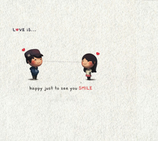 Love Is Happy Just To See You Smile - Obrázkek zdarma pro 208x208