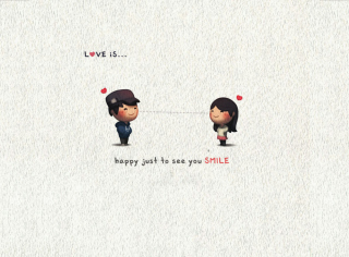 Love Is Happy Just To See You Smile - Obrázkek zdarma pro 1366x768