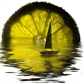 Lime Boat - Obrázkek zdarma pro iPad