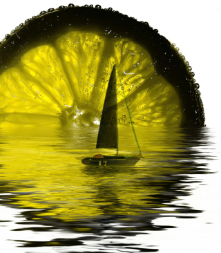 Lime Boat - Obrázkek zdarma pro Nokia Asha 308