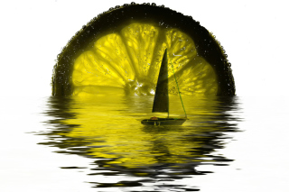 Lime Boat - Obrázkek zdarma pro Samsung Galaxy Tab 3