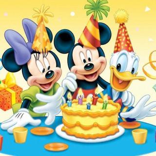 Mickey Mouse Birthday - Obrázkek zdarma pro 320x320