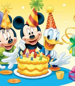 Mickey Mouse Birthday - Obrázkek zdarma pro Nokia Asha 308