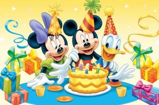Mickey Mouse Birthday - Obrázkek zdarma pro Nokia Asha 302