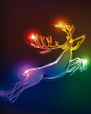Lighted Christmas Deer - Obrázkek zdarma pro Nokia Asha 300