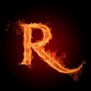 Fire Alphabet Letter R - Obrázkek zdarma pro 208x208