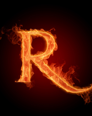 Fire Alphabet Letter R - Obrázkek zdarma pro iPhone 4S