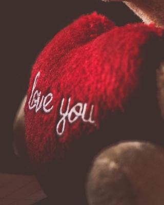 Love You Plush Bear - Obrázkek zdarma pro iPhone 5S