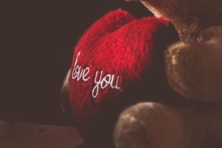 Love You Plush Bear sfondi gratuiti per cellulari Android, iPhone, iPad e desktop