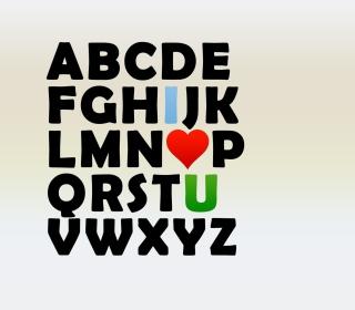 I Love U Alphabet - Obrázkek zdarma pro 320x320