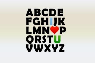 I Love U Alphabet - Obrázkek zdarma pro 1600x900