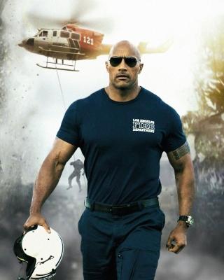 Dwayne Johnson Policeman - Obrázkek zdarma pro iPhone 4
