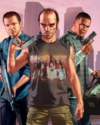 Grand Theft Auto V Band - Obrázkek zdarma pro Nokia Asha 300